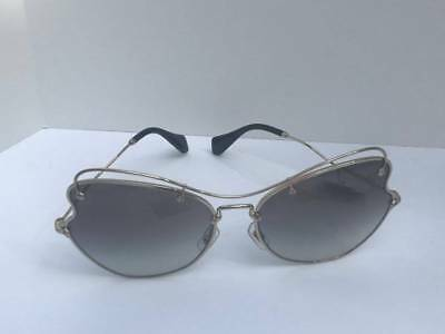 7832c950b79 NWT Miu Miu Sunglasses Scenique Butterfly SMU 56R Pale Gold Frame w  Gray  Mirror