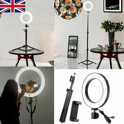 LED Ring Light with Stand Phone holder Dimmable Lighting Kit Makeup Youtube Live