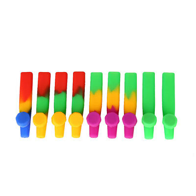 5Pcs Silicone Hand Tobacco Smoking Pipe with Cap Bowl Herb Cigarette Filter