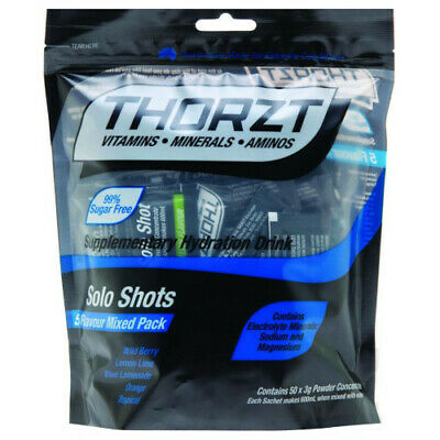 Thorzt Sugar Free Solo Shot Mixed 5 Fruits 50 Pack Hydration Electrolyte Drink