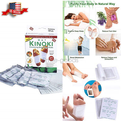 50PCS KINOKI Detox Foot Pads Patch Pain Relief Soothing Herbal Health Cleansing