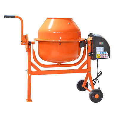 63 LITRE 240V220W Drum Portable Electric Concrete Cement Mixer Mortar Plaster UK
