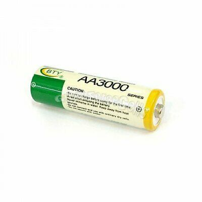 16 pcs AA LR06 3000mAh 1.2V NI-MH rechargeable battery CELL/RC 2A BTY Green