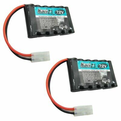 2 pcs 7.2V 6*AA 1800mAh NI-MH Rechargeable Battery Pack with Tamiya Plug HyperPS
