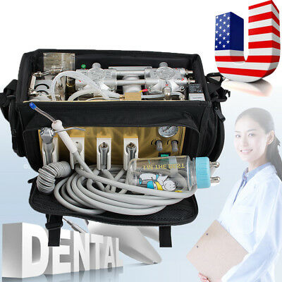 Portable Dental Unit with Air Compressor Bag Suction System machine clinic tool