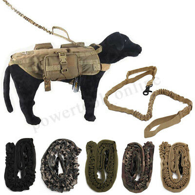 Tactical Police K9 Dog Training Leash Elastic Bungee A Canine  Military  It