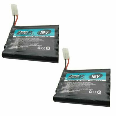 2 pcs 12V 10*AA 1800mAh NI-MH Rechargeable Battery Pack with Tamiya Plug HyperPS