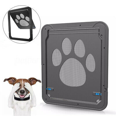37x42cm Large Medium Dog Cat Pet Door Screen Window ABS Magnetic Auto Lock  IT