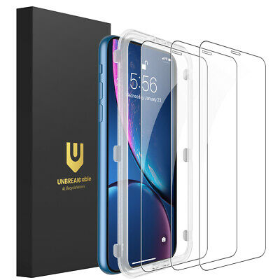 UNBREAKcable iPhone XR Screen Protector 3-Pack Tempered Glass for iPhone XR