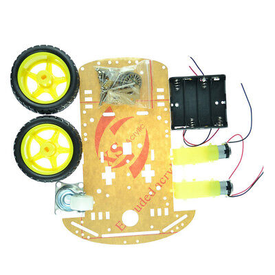 2WD Smart Robot Car Chassis Kit/Speed encoder Battery Box Arduino 2 motor 1:48RR