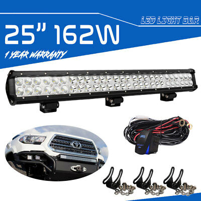 25inch 162W Slim Dual Row Led Work Light Bar For Jeep Truck SUV UTE Driving Lamp