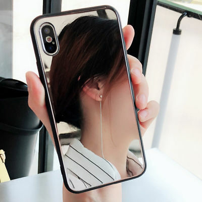 Luxury Make Up Mirror Back Phone PC Hard Case Cover For iPhone X XR 6 Plus 7