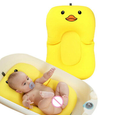 Cartoon Duck Baby Bath Tub Foldable Bathtub Chair Pad Infant Bathing Cushion Mat