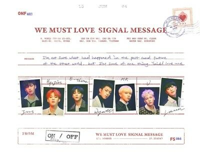 K-POP ONF 3rd Mini Album - [WE MUST LOVE] CD+Photobook+Photocard+Post+2p Photo
