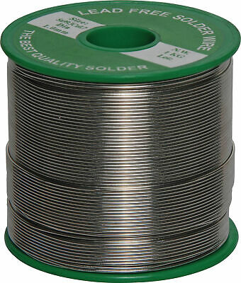 1mm Lead Free 1kg Roll SolderComplies with European RoHS. 99.3% tin, 0.7% coppe