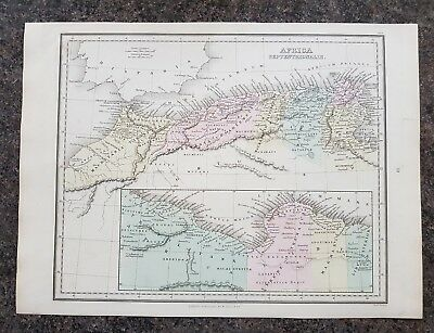 19th century engraving map Africa Septentrionalis W.Tegg and Co