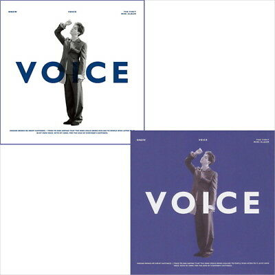 ONEW [VOICE] 1st Mini Album RANDOM CD+POSTER+Photo Book+Card+GIFT K-POP SEALED