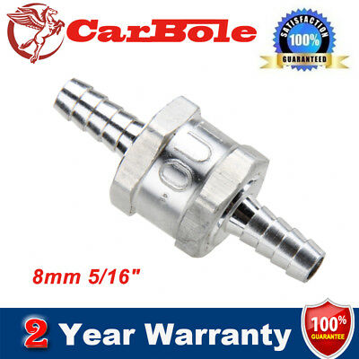 "1*8mm 5/16"" Fuel Non-Return One Way Check Valve Petrol Diesel Oil Water Aluminum"