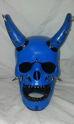 Multi Horned Skull Blue - Hand Made And Painted In Australia