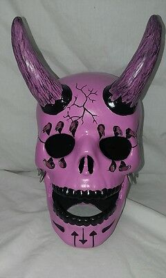 Multi Horned Skull Pink - Hand Made And Painted In Australia