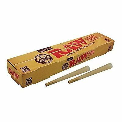 RAW Classic King Size Cones Mega Pack 32 Cones Pre Rolled Rolling Papers UK 1PC