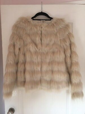 757839ba279 MARKS   SPENCER FUR CREAM COAT AGE 4 - 5 YEARS height - £4.99 ...