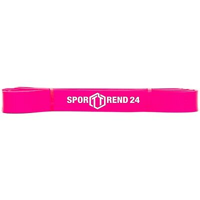 Fitness Band Resistant Tape Rubber Stretch 29mm Pink up to 43,09KG