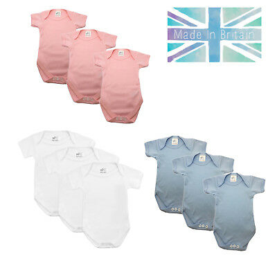 Baby Bodysuits -  Boys & Girls Toddler, Short Sleeve Suit, 3 Pack by Baban Baby