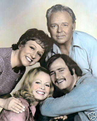"CAST of ALL IN THE FAMILY TELEVISION 1970s 8x10"" HAND COLOR TINTED PHOTOGRAPH"
