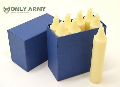 Vintage Swiss Army Candles For Lanterns (Pack of 8) Original Military Surplus