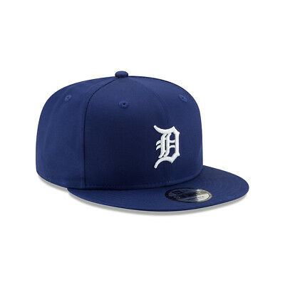 New Era Mens 9Fifty Baseball Cap.detroit Tigers League Blue Flat Peak Hat 9S1 88