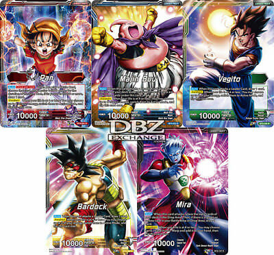Dragon Ball Super Cross Worlds Set 3 Rare Leader Set TCG NEAR MINT