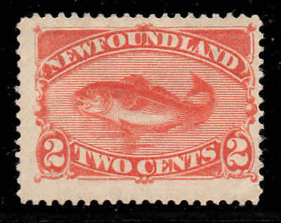 Newfoundland 1887 2c Cod orange-vermilion SG 51 mint CV £27.