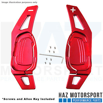 Polished Red Paddle Shift DSG Gear Extensions Audi S3 8V / RS3 Pre-FL / SQ5 / S5