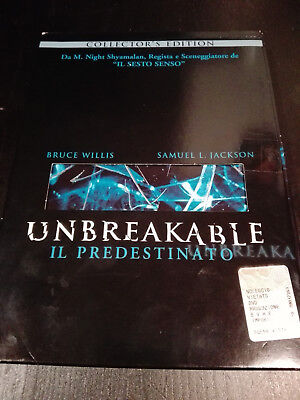 UNBREAKABLE IL PREDESTINATO DVD COLLECTOR'S EDITION 2 DISCHI Bruce Willis