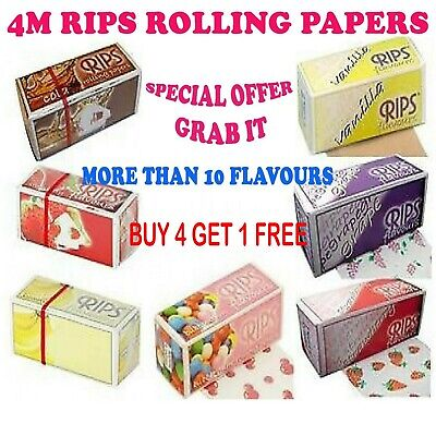Rips Cigarette Rolling Papers Fruit Flavored Rolls 4 Meter Long - Special Offer-