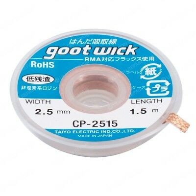 1.5MX2.5mm Quality Goot Wick Desoldering Wire Braid For Soldering Iron CP-2515