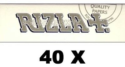 Rizla White 40 Booklets 2000 Smoking Rolling Papers Regular Size Original