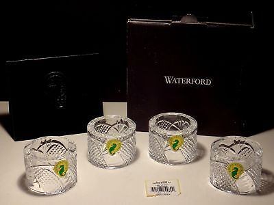 4 New Waterford Crystal Seahorse Napkin Rings