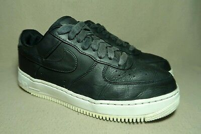 the latest 763e0 0fc6b NIKE AIR FORCE 1 LOW Men s Black Leather Casual Trainers UK 8 EU 42.5
