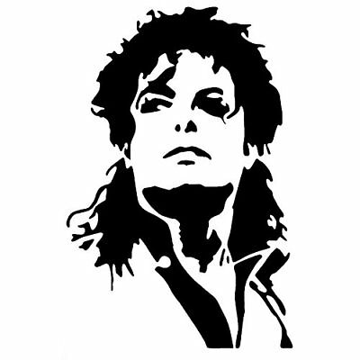 Small Michael Jackson inspired novelty sticker suitable for a variety of uses