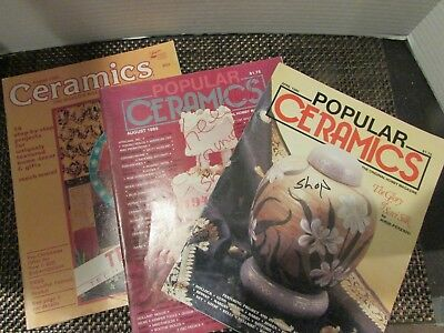 Ceramics Popular Ceramics Magazines 1981, 1989 and 1990 Set of 3 Nice!
