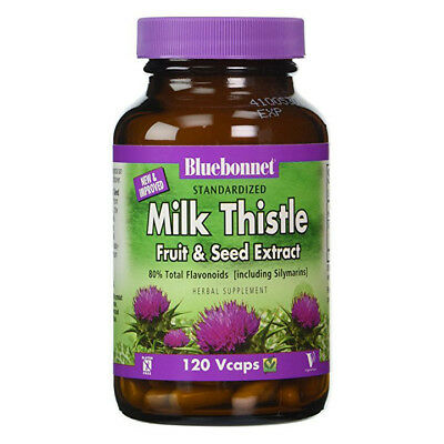 Bluebonnet Milk Thistle Fruit & Seed Extract, 120 V Caps EXP: 05/2019