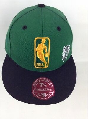 339665b470ff7a ... france boston celtics nba mitchell ness fitted logo hat cap size 7  61357 cffdf