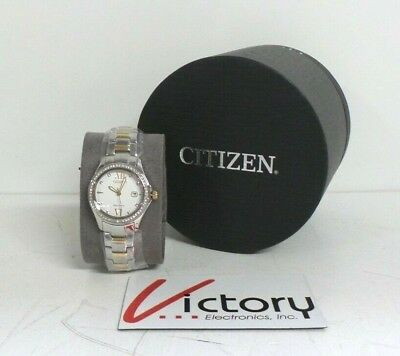 NEW Citizen FE1144-85B Eco-Drive Two-Tone Stainless Steel Women's Watch