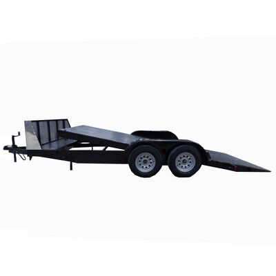 Utility Trailer 7'x18' Tilt Bed Steel Car Hauler W/ Guard
