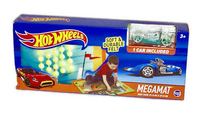 Hot Wheels Megamat 1 Car Included Soft New Sealed Birthday Boy