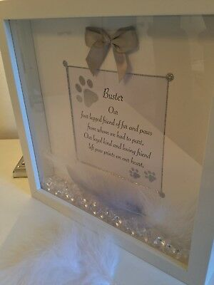 Personalised 3D Box Frame In Loving Memory Dog, Pet