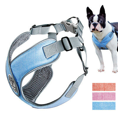 No Pull Dog Harness Step In Mesh Padded Vest Reflective Adjustable Bulldog S M L