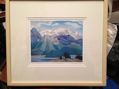 """Along The Athabasca"" by Doris J McCarthy - Middle Print of Triptych"